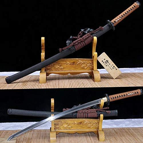 Handmade Damascus Folded Steel Japanese Tachi Full Tang Samurai Katana Sword