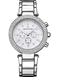 Timothy Stone DÉSIRE STAINLESS Silver Women's Design Watch 39mm