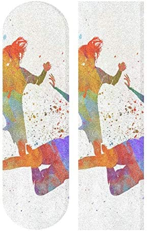Kiss Lip Heart Love Anti Slip Bubble Free Waterproof Grip Tape Sheet Easy to Install for Skateboard,Longboard,Scooter,Rollerboard,Balance Board