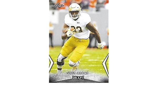 612683ddc7e Amazon.com  2018 Leaf Draft  30 Josh Adams Notre Dame Football Card   Collectibles   Fine Art