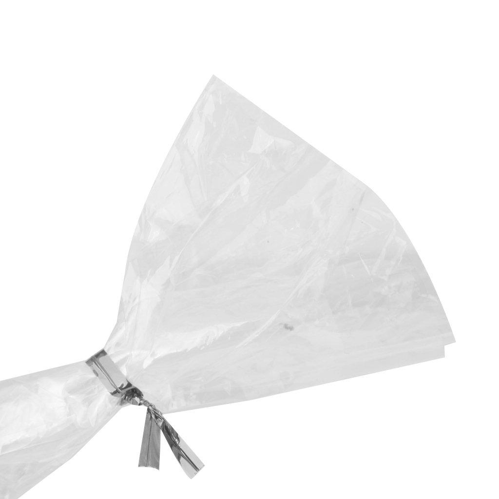 800pcs Alambre Met/álico Decorativo para Bolsa de Dulce Piruleta Caramelo Color Plata