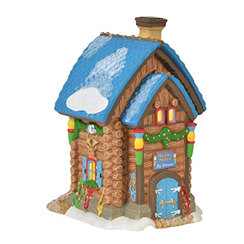 Department 56 North Pole Village Series Santa's Hitching Station Lit Building 6.75'' Multicolor by Department 56 (Image #1)