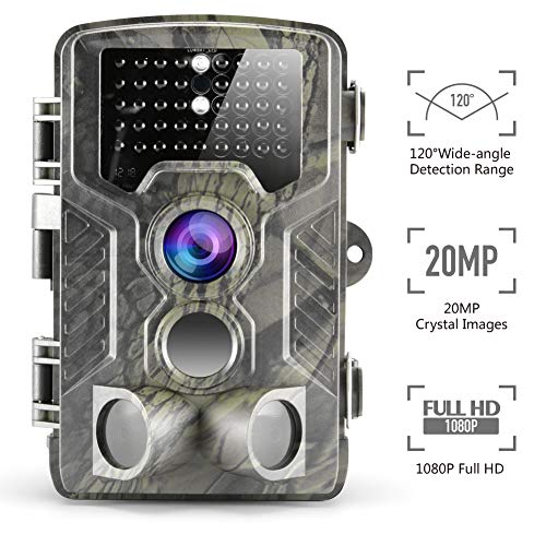 "Climbose Hunting Trail Camera, 20MP 1080P HD Night Vision Hunting Video Cam, 65FT Wildlife Camera with 940nm IR LED, 2"" LCD, Waterproof IP56, Instant Surveillance Camera (Trail Camera) For Sale"