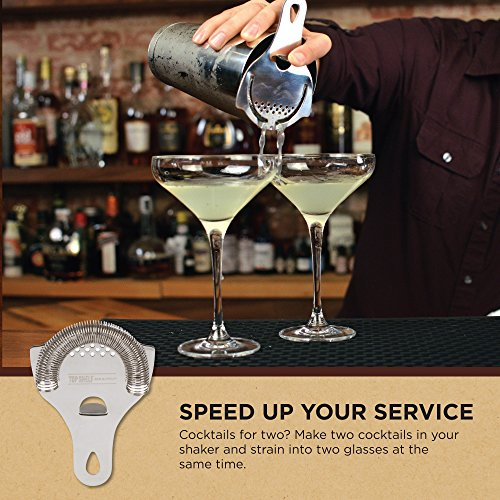 Hawthorne Cocktail Strainer - Stainless Steel Strainer for Professional Bartenders and Mixologists by Top Self Bar Supply by Top Shelf Bar Supply (Image #6)