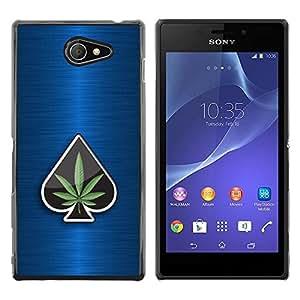 Be Good Phone Accessory // Dura Cáscara cubierta Protectora Caso Carcasa Funda de Protección para Sony Xperia M2 // Marijuana Space Weed 420 Bud