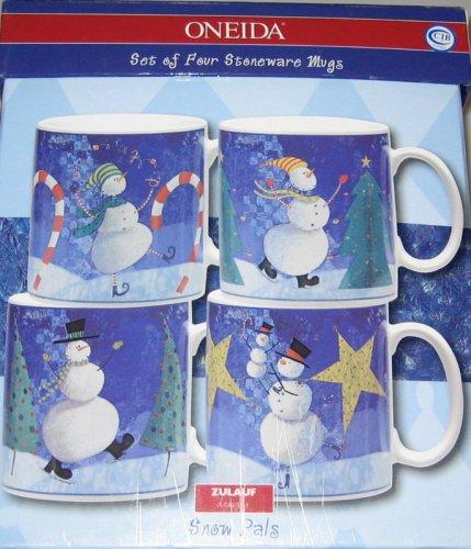Oneida Snow (Oneida Snow Pals Set of Four Stoneware Mugs)
