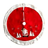 Asiproper Home Decoration Christmas Pattern Embroidered Christmas Tree Skirt