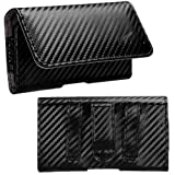 xperia z1 carbon fiber - Avarious Executive Leather Pouch Case for Sony Xperia Z1 Compact, 4.3-inch, Carbon Fiber