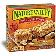 Nature Valley Granola Bars, Sweet and Salty Nut, Peanut, 6 Bars - 1.2 oz