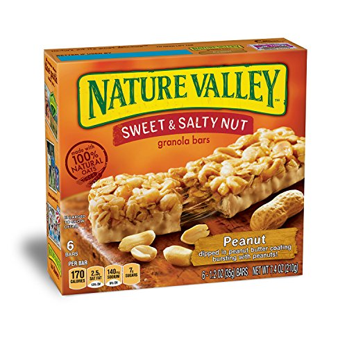 Nature Valley Granola Bars, Sweet and Salty Nut, Peanut, 6 Bars - 1.2 oz from Nature Valley