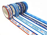 Set of 8 Patriotic Washi Tape Designs, Perfect for Decorating Postcards to Voters Or Other get Out The Vote Writing Campaigns
