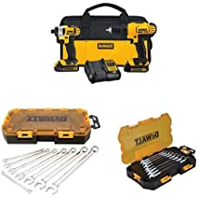 DEWALT DCK240C2 20v Lithium Drill Driver/Impact Combo Kit with SAE and Metric Wrench Sets