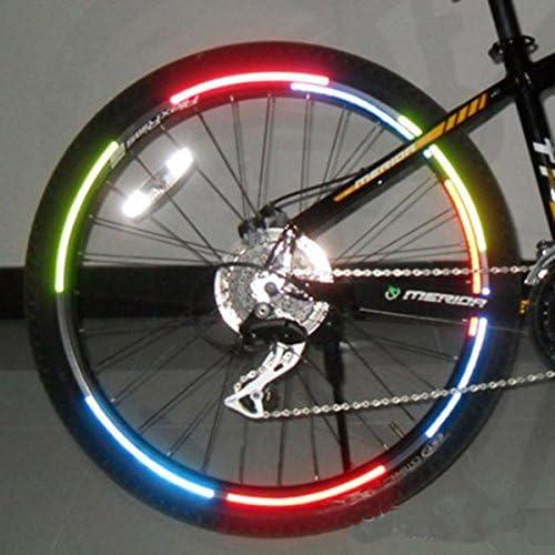 4pcs Bike Bicycle Wheel Rims Reflective Stickers Luminous