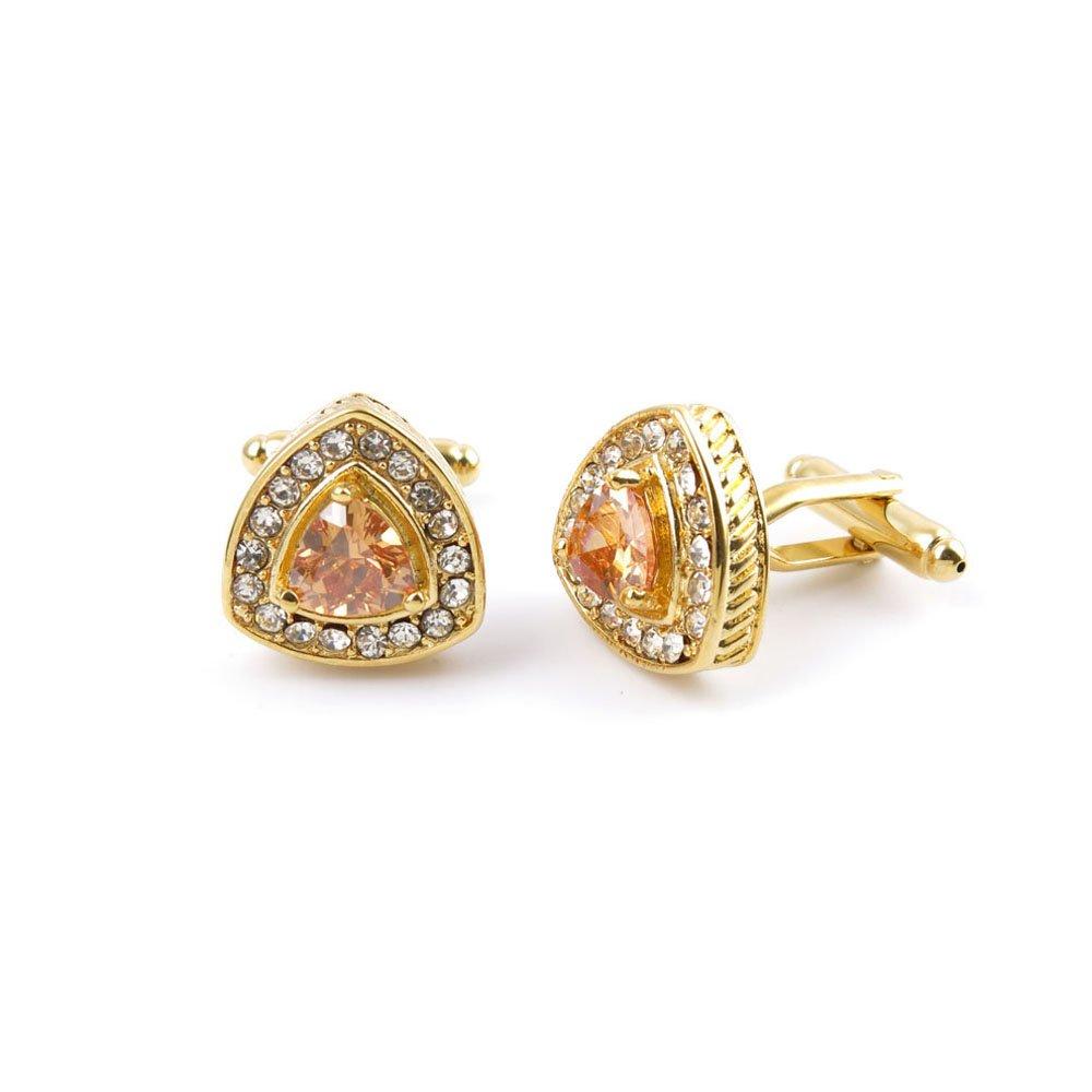 10 Pairs Men Boy Jewelry Cufflinks Cuff Links Party Favors Gift Wedding FJ090 Golden Heart Crystal