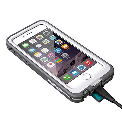 LifeProof FRE POWER iPhone 6 ONLY (4.7'' Version) Waterproof Battery Case - Retail Packaging -  (BRIGHT WHITE/COOL GREY) (Discontinued by Manufacturer) by LifeProof (Image #6)