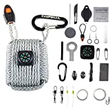 Emergency Survival Kit Grenade - 25 Accessories First Aid Kit Survival Wrapped in 550 lb Paracord Survival Grenade Cord for Emergencies (Digital Camo)