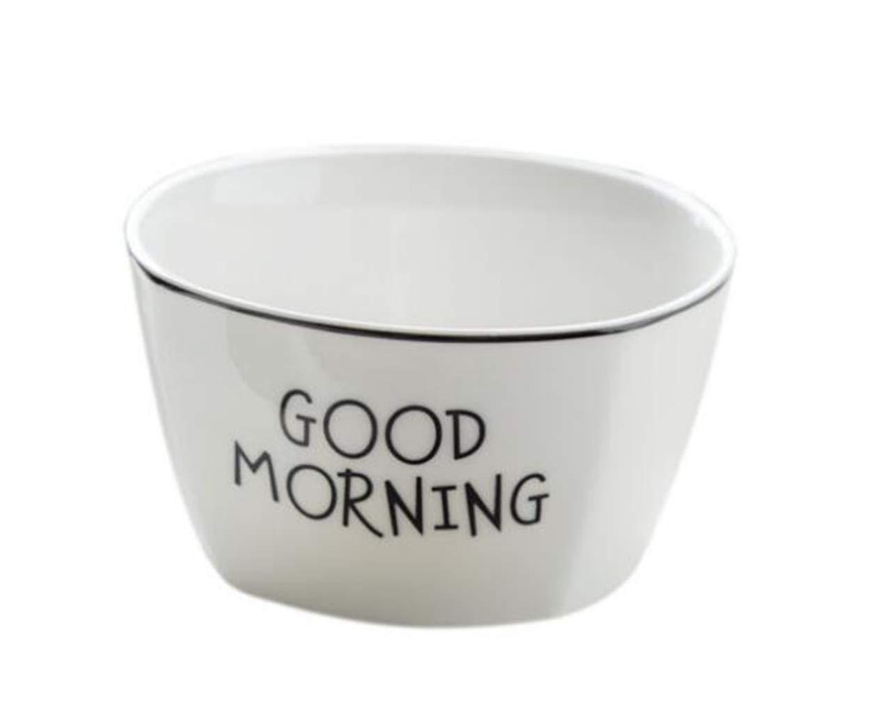 STEAM PANDA Tazón De Ramen Tazón De Cerámica Cereal De Avena Cereales para El Desayuno Ensalada De Fruta Japonesa Sopa De Porcelana con Borde Negro ...
