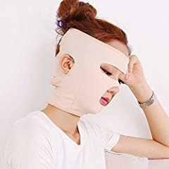Specifications: Elastic, breathable and comfortable. Easy to wear with adhesive tape Can promote blood circulation and tighten neck, cheek and chin. Perfect for lifting and slimming entire face.   How to Use: 1. Wash your...