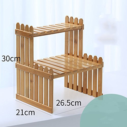 Flower Racks Flower stand Plant stand Plant flower pot rack Display shelf Shelf holds Wood plant stand Mini Office Windowsill Simple-A 26.5x30cm(10x12inch)