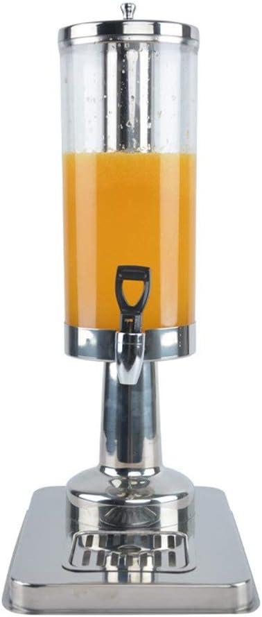 ジュースは丁機バレル型冷ドリンクマシン家庭用および商業用飲料マシンジュースセルフサービスコールドドリンクマシン、シルバードリンク アイス飲料ディスペンサー (色 : 銀, サイズ : 21.5x31x50cm)