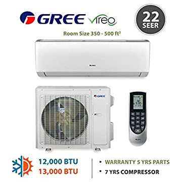 GREE Vireo 12,000 BTU Wall Mounted Ductless Mini Split Heat Pump System 208-230 VAC