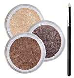 Brown Eyes Smokey Mineral Eyeshadow Kit - 100% Pure All Natural Mineral Makeup - Not Bare Minerals, Bare Escentuals, Mineral Fusion, MAC