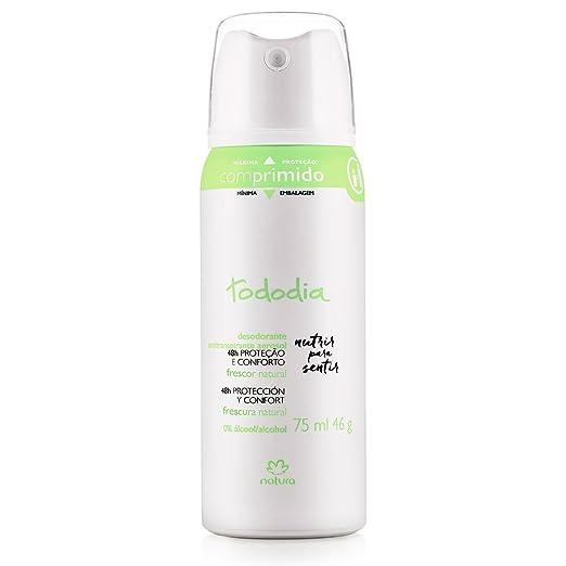Amazon.com : Linha Todo Dia (Frescor Natural) Natura - Desodorante Antitranspirante Aerossol Feminino 75 Ml - (Natura Every Day (Natural Fresh) Collection ...