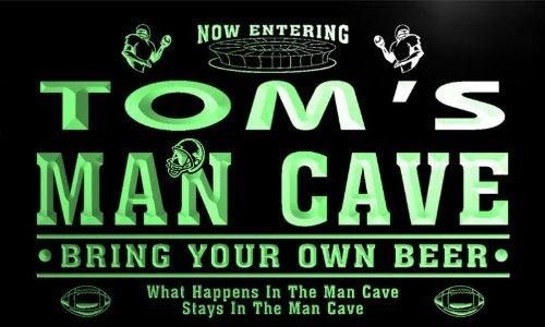 Michigan Man Cave Signs : Qa154 g tom's man cave football game room bar neon beer sign