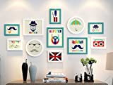 ZYANZ Modern fashion photo wall, wooden rectangular combination photo frame (11 packs)