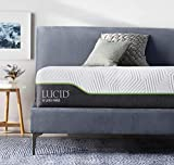 "Lucid LU12QQ70LH 12"" Latex Hybrid Mattress, Queen, White/Grey"