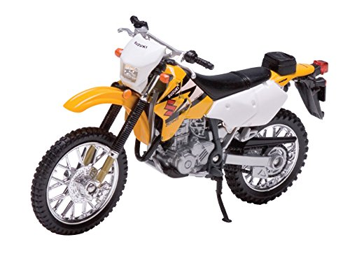 Welly Die Cast Motorcycle Yellow Suzuki DR-Z400S, 1:18 Scale