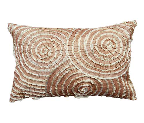 (A1 Home Collections Decorative Throw Pillow, Spiral Lace Geometric, 14