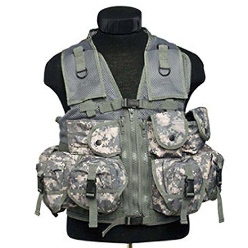 Mil-Tec Digital Camo Nine Pocket Tactical Vest - 10712070 ()