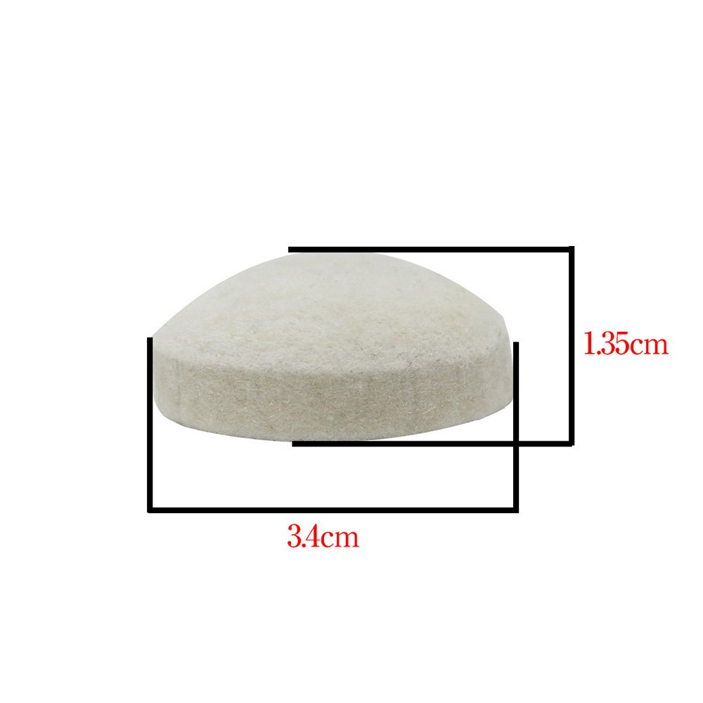 ammoon Wool Felt Pad High Quality for Bass Drum Pedal Beater Percussion Instrument Accessories