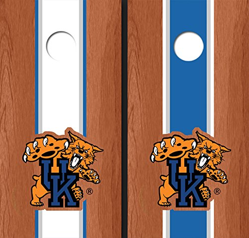 University of Kentucky ''Wildcat'' Rosewood Alternating Long Stripe Cornhole Boards - Uk-2122