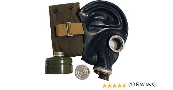 GP-5 - Máscara de gas (goma, tallas 0,1,2,3,4), diseño soviético, color negro: Amazon.es: Bricolaje y herramientas