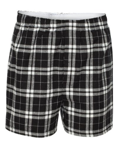 Boxercraft Adult Classic Flannel Boxers - Black/ White - S