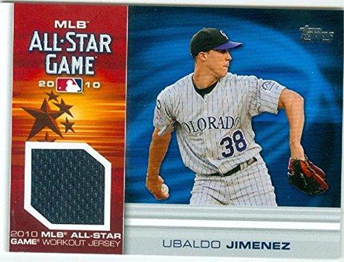 85db48054b0 ... Ubaldo Jimenez player worn jersey patch baseball card (Colorado  Rockies) 2010 Topps All Star Discount ubaldo jimenez jersey 2017-Little  League Orioles ...