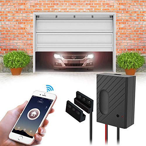 TEEKAR WiFi Garage Door Opener Kit Smartphone Control Garage Door Switch Controller Compatible with Alexa/Siri/Google Home/IFTTT