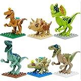 Lego Compatible Jurassic World Dinosaur Toy 6PCS/set Building Blocks Cartoon Movie Jurrassic Park 4 Dinosaur Bricks Toy (Without Original Box)