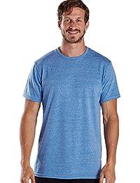 """<span class=""""a-offscreen"""">[Sponsored]</span>Men's Short Sleeve Tri-Blend Crew Neck"""