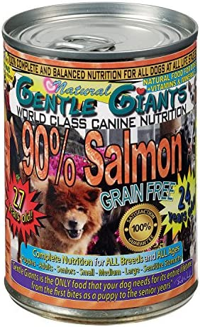 Gentle Giants All Natural Grain Free 90 Salmon, 13Oz, Case Of 12