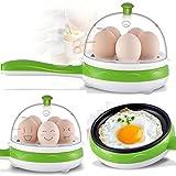Kihika Multifunctional Electric 2 in 1 Frying Pan With Egg Boiler