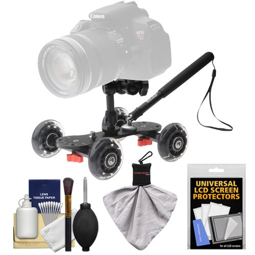 Vidpro SK-22 Professional Skater Dolly for Digital SLR Cameras & Video Camcorders with Accessory Kit by VidPro