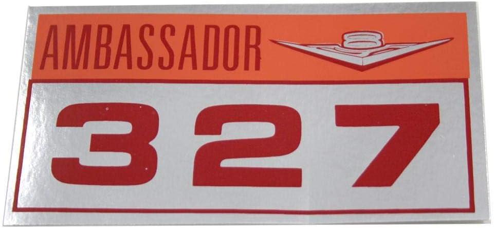 PAIR 1963 1964 AMC AMBASSADOR 327 VALVE COVER DECALS