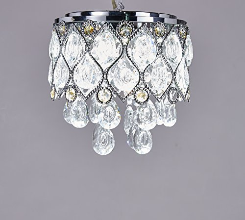 8l Chandelier (Elizabeth Lighting Flush Mount Crystal Chandelier, Chrome, Diameter 8 inches x Height 8 inches)