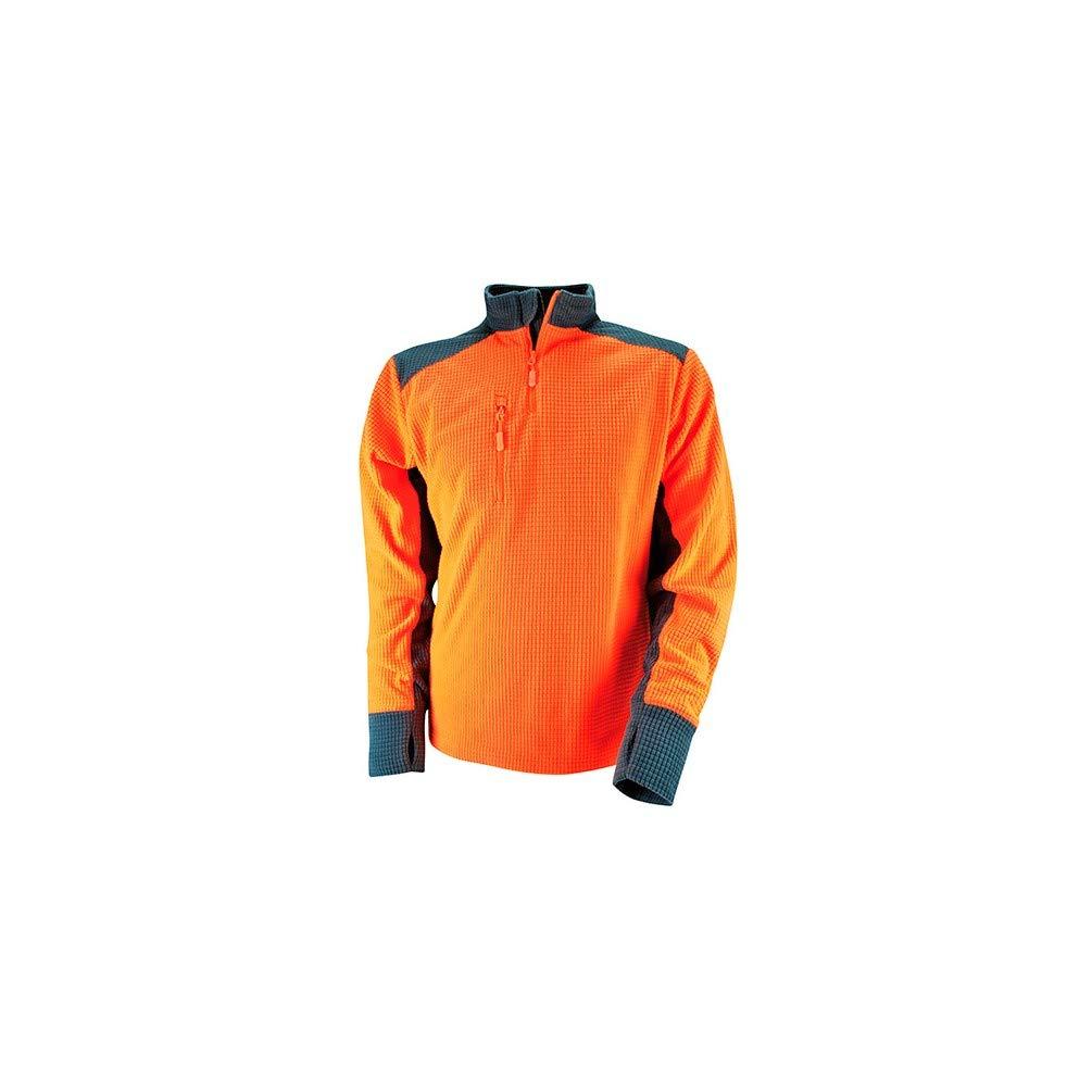 Polaire en tissu gauffr/é et maille sous les bras pour une meilleure respirabilit/é COB orange Solidur