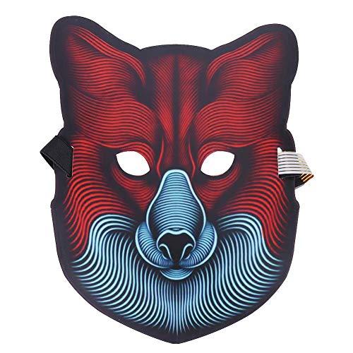 ハロウィンマスク 仮装マスク 怖いマスク 動物マスク ダンスマスク 発光 音声制御 仮装 仮面 光る 変装 お化け屋敷 コスプレ衣装 コスチューム小道具 仮装 パーティー ジョークグッズ コレクション アイテム Prosperveil