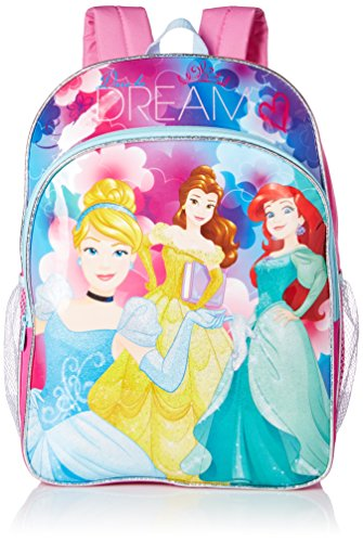 (Disney Little Girls Princess Dare To Dream 16 Inch Backpack, Pink/Blue, One Size)