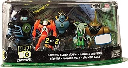 Ben 10 Omniverse Exclusive Action Figure 5Pack Azmuth Haywire Eatle